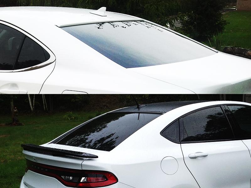 Painted Black Rear Window Roof Spoiler for Lexus ES XV30 sedan 2002-2006
